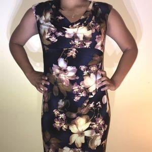 Blue floral dress by Lauren Ralph Lauren size 8